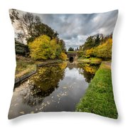 Chirk Canal Throw Pillow