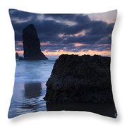 Chiseled By The Sea Throw Pillow