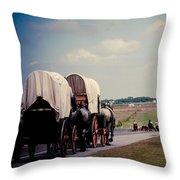 Chisholm Trail Centennial Cattle Drive Throw Pillow