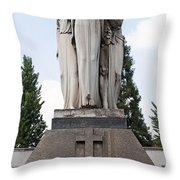 Chisletti Bonelli Memorial Front View Monumental Cemetery Milan Throw Pillow