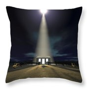 Chistmas Stable In Bethlehem Throw Pillow by Allan Swart
