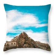 Chiu Monastery Near Lake Manosarovar Throw Pillow by Raimond Klavins
