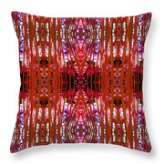 Chive Abstract Red Throw Pillow