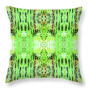Chive Abstract Green Throw Pillow