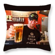 Chive On At Santa Fe Brewery Throw Pillow