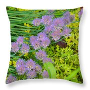 Chives 3 Throw Pillow