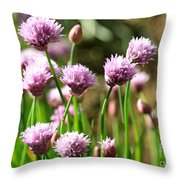 Chives Throw Pillow