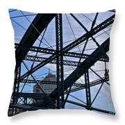 Choas In The City Throw Pillow