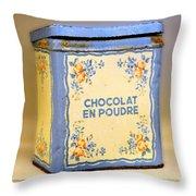 Chocolat En Poudre Throw Pillow