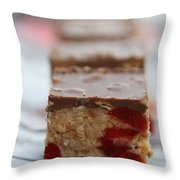 Chocolate And Cherry Throw Pillow