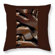 Chocolate Bark Throw Pillow