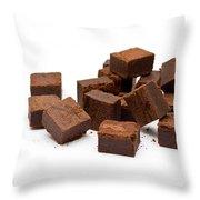 Chocolate Brownies Throw Pillow