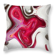 Chocolate Candy Apple Dream Throw Pillow by Ella Char