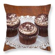 Chocolate Caramel Cupcakes Throw Pillow