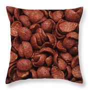 Chocolate Cereals Throw Pillow
