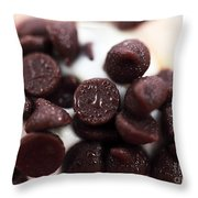 Chocolate Chips Throw Pillow