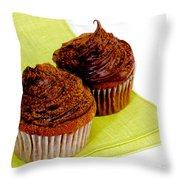 Chocolate Cupcakes Throw Pillow