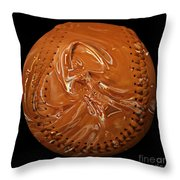Chocolate Dipped Baseball Square Throw Pillow