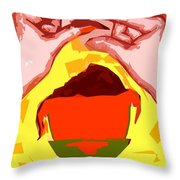 Chocolate Easter Egg Throw Pillow