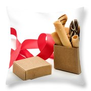Chocolate Gift Throw Pillow