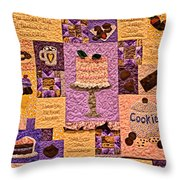 Chocolate Holiday Throw Pillow
