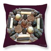 Chocolate Mandala Throw Pillow