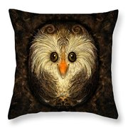 Chocolate Nested Easter Owl Throw Pillow