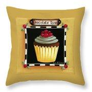 Chocolate Pecan Cupcake Throw Pillow