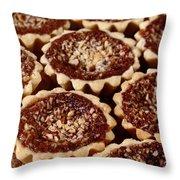 Chocolate Pecan Tarteletts Throw Pillow