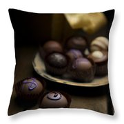 Chocolate Pralines Throw Pillow