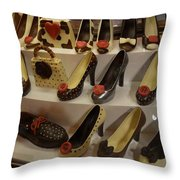 Chocolate Shoes In Milan Throw Pillow