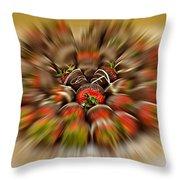 Chocolate Strawberry Rush Throw Pillow