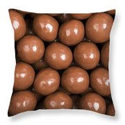 Chocolate Sweet Background Throw Pillow