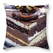 Chocolate Temptation Throw Pillow by Edward Fielding