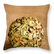 Chocolate Truffles Rolled In Thyme Throw Pillow