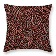 Chocolate Vermicelli Background Throw Pillow by Johan Swanepoel