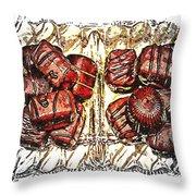 Chocolates - Illustration - Dish - Candy Throw Pillow