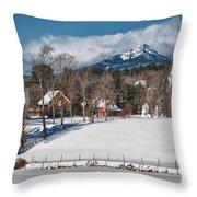 Chocorua - Where The Mountain Meets The Town Throw Pillow