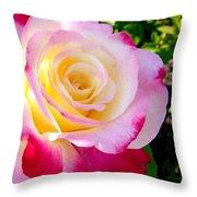 Choice Garden Rose Throw Pillow