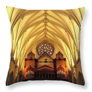 Choir Loft At Saint Josephs Cathedral Buffalo New York Throw Pillow