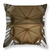 Choir Vault St Thibault Throw Pillow
