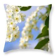 Choke Cherry In Bloom Throw Pillow
