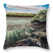 Chokoloskee Snook Throw Pillow