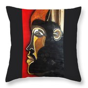 Chokwe Mask Throw Pillow