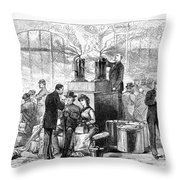 Cholera: 1884 Epidemic Throw Pillow