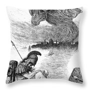 Cholera Cartoon, 1883 Throw Pillow by Granger