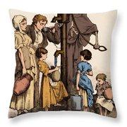Cholera-infected Pump, 1854 Throw Pillow