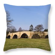 Chollerford Bridge Throw Pillow
