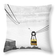 Chongqing Cable Car Throw Pillow