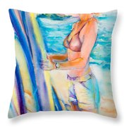 Choose Well Wahine Throw Pillow